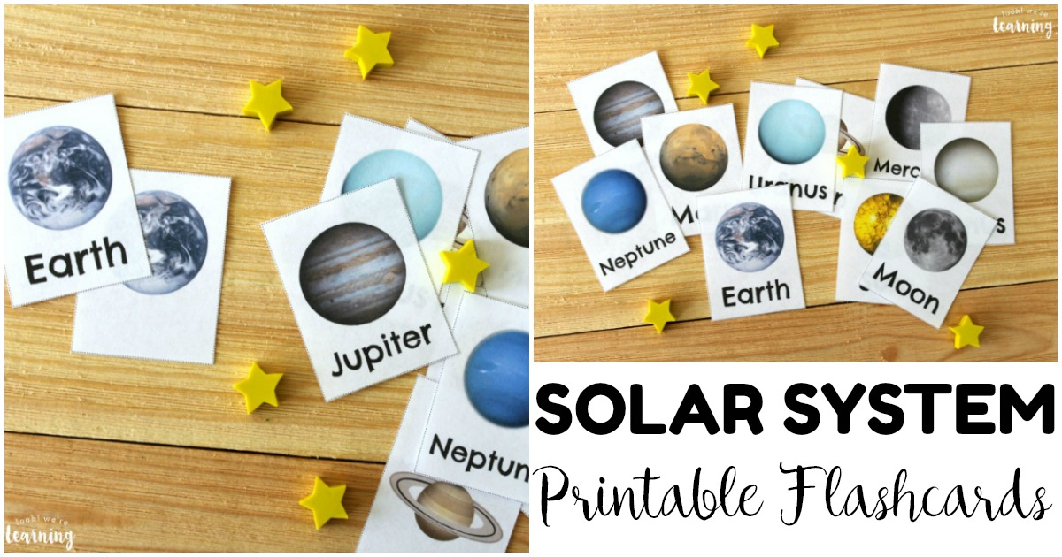 Printable Color Solar System Flashcards for Kids