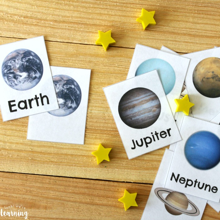 Printable Solar System Flashcards for Kids