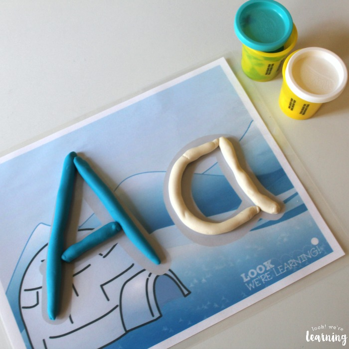 Printable Winter Playdough Mats