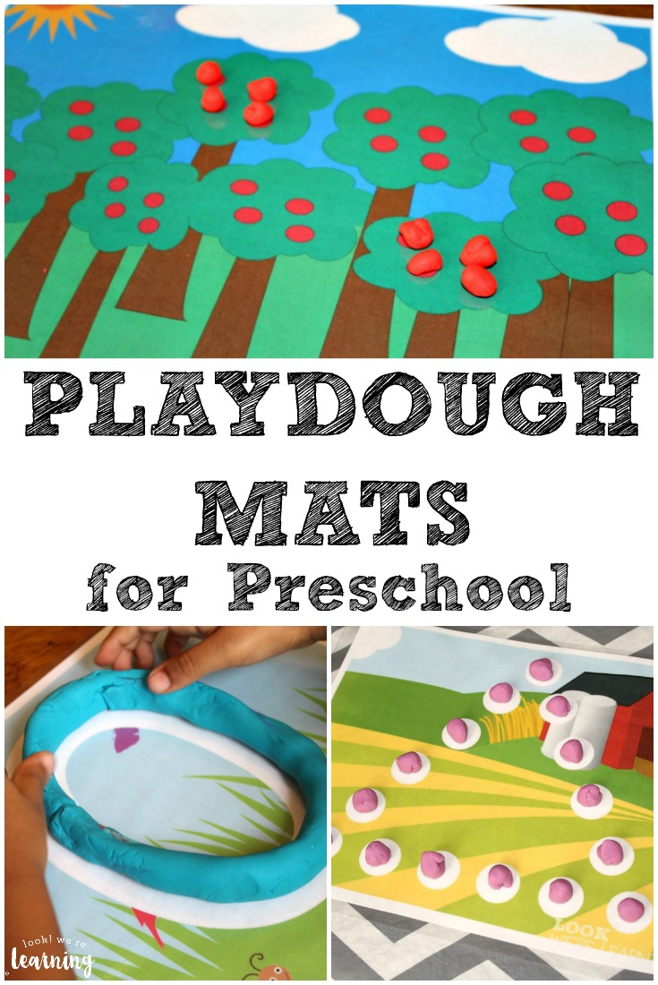 These preschool playdough mats are a fun way to help early learners practice fine motor skills!