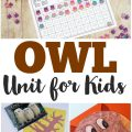 This simple owl unit study for kids is a fun way to learn about nocturnal animals!