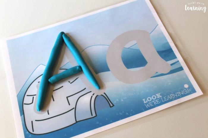 Winter Alphabet Playdough Mats