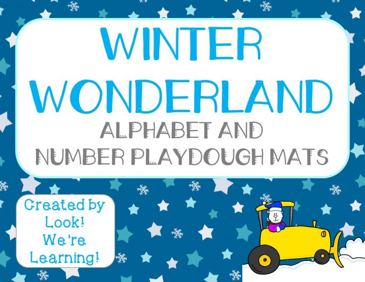 Winter Wonderland Playdough Mats