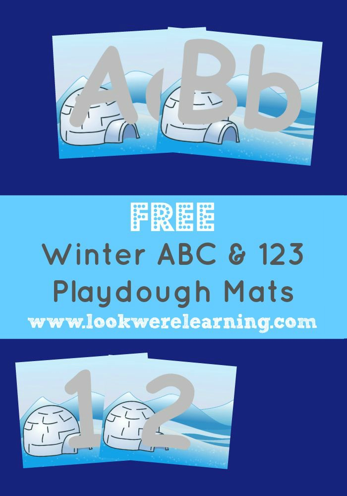 Winter Playdough Mats @ Look! We're Learning!