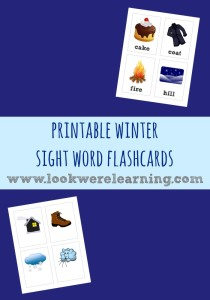 Printable Winter Sight Words Flashcards - Look! We're Learning!