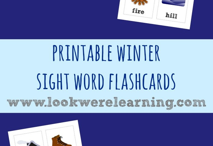 Winter Sight Words Flashcards