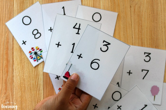 0-10 Addition Fact Flashcards for Kids