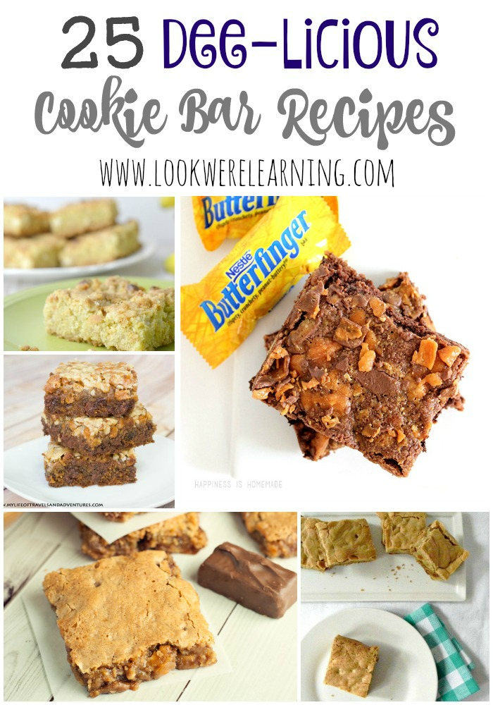 Ready to break out the baking pan? These 25 delicious cookie bar recipes are perfect baking projects for parents and kids!