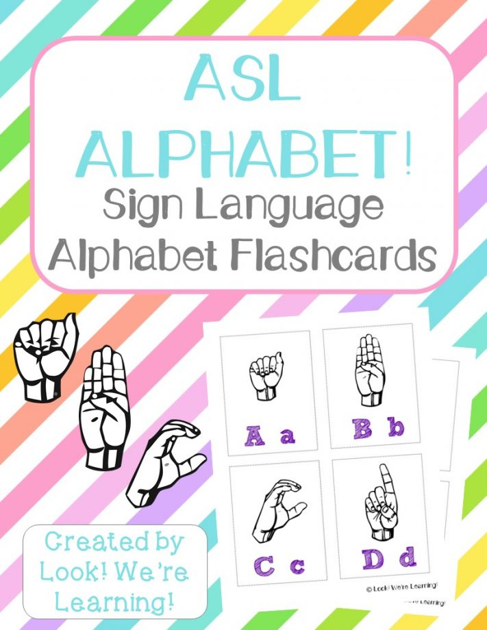 Free Printable Flashcards Sign Language Alphabet