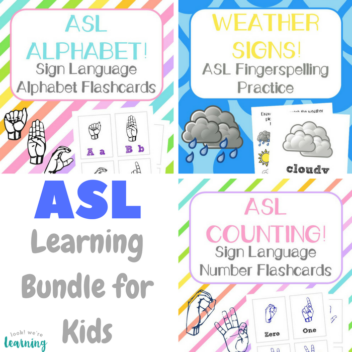 ASL Learning Bundle for Kids