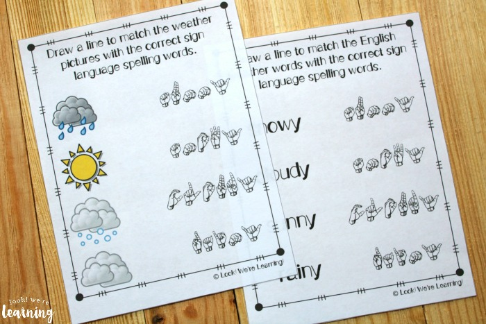 ASL Weather Fingerspelling Lesson for Kids
