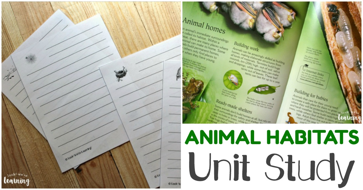 Animal Homes Unit Study for Homeschoolers