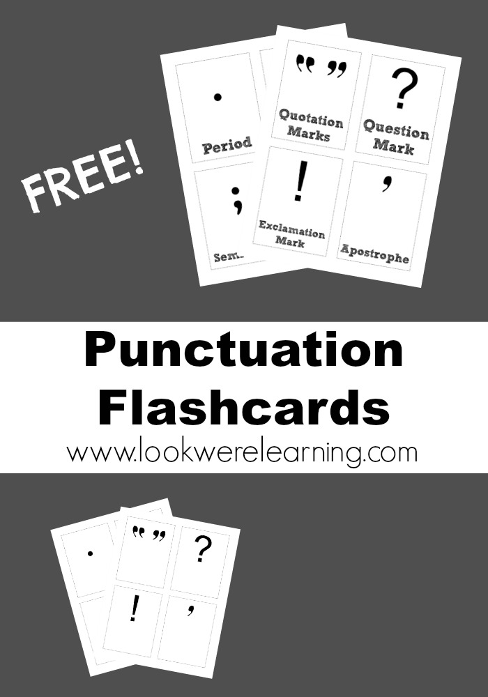 Free Printable Flashcards Punctuation - Look! We're Learning!