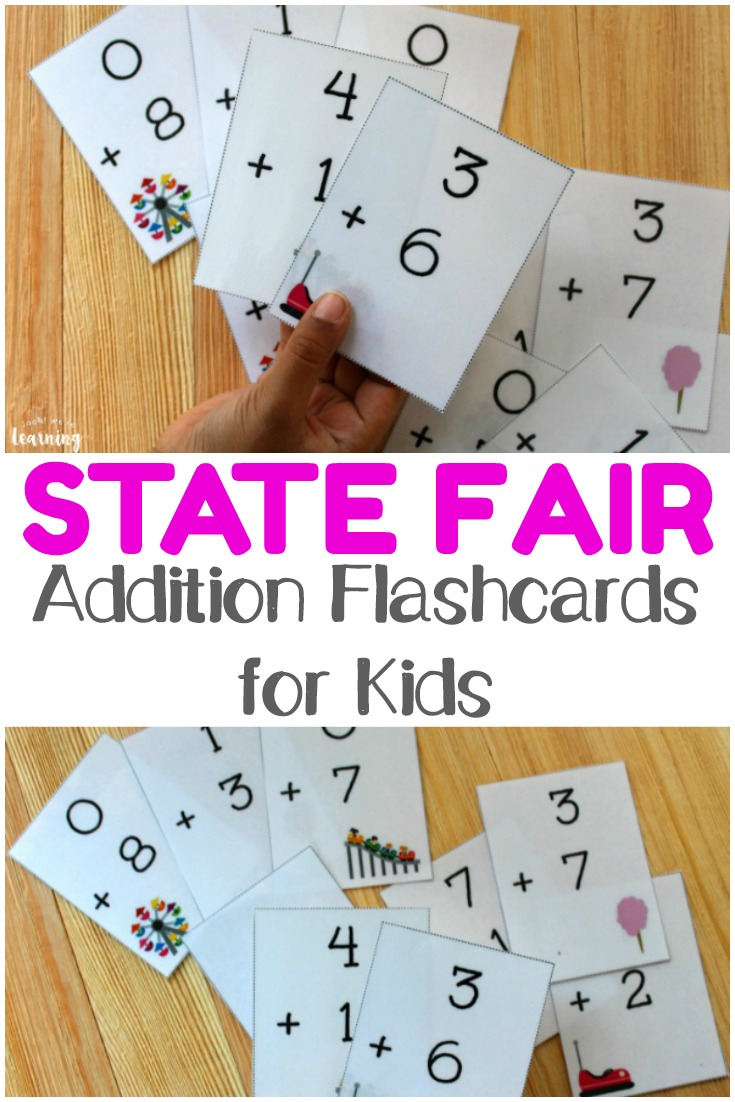 Grab these cute printable addition flashcards 0-10 to help kids memorize basic adding with numbers from 0 to 10!
