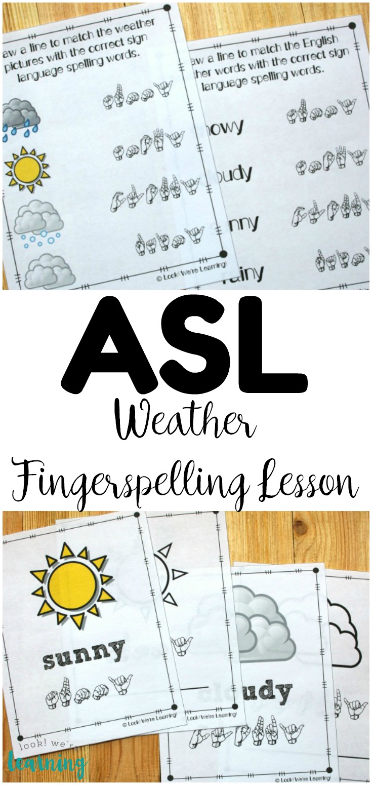 Learn how to fingerspell common weather words in sign language with this ASL weather fingerspelling lesson for kids!