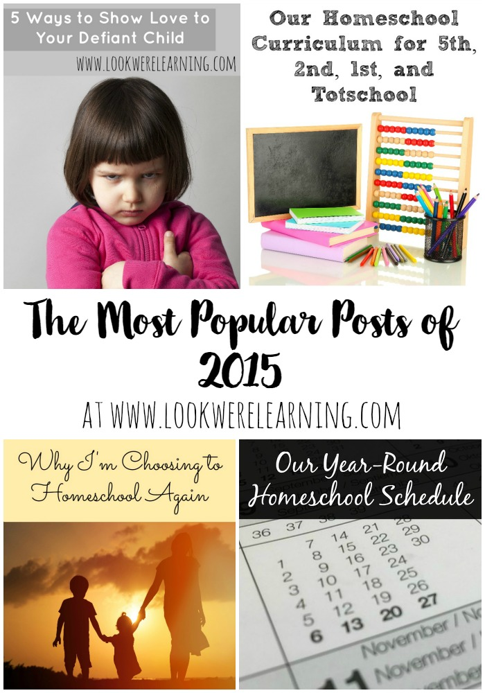 Most Popular Posts of 2015 from Look! We're Learning!