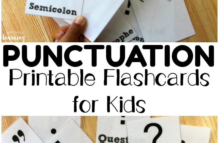 Free Printable Flashcards: Punctuation Flashcards
