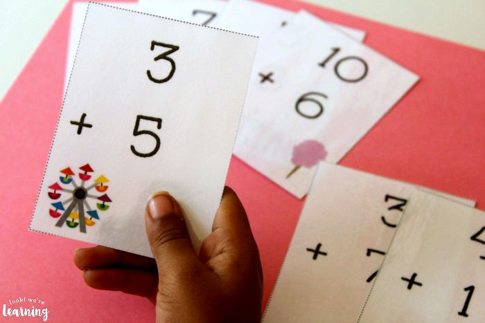 Practicing Math with Printable Addition Flashcards