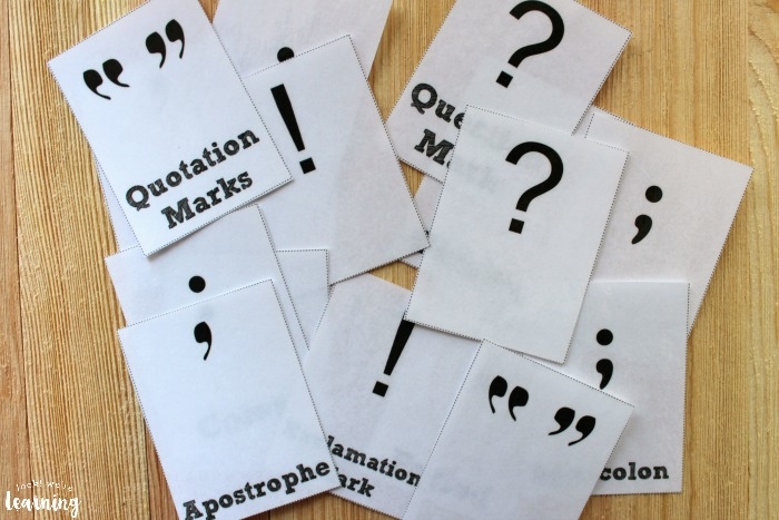 Printable Punctuation Flashcards for Kids