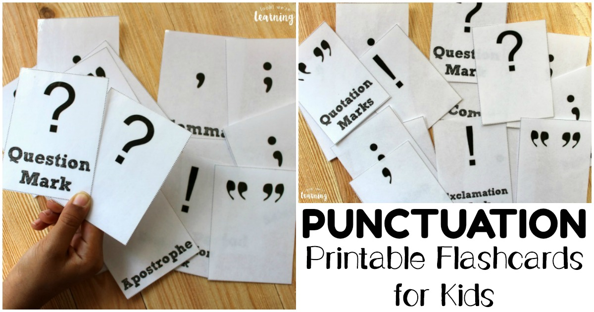 Printable Punctuation Flashcards for Students