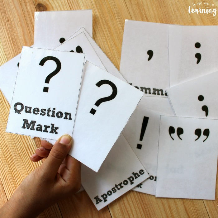 Printable Punctuation Mark Flashcards for Students