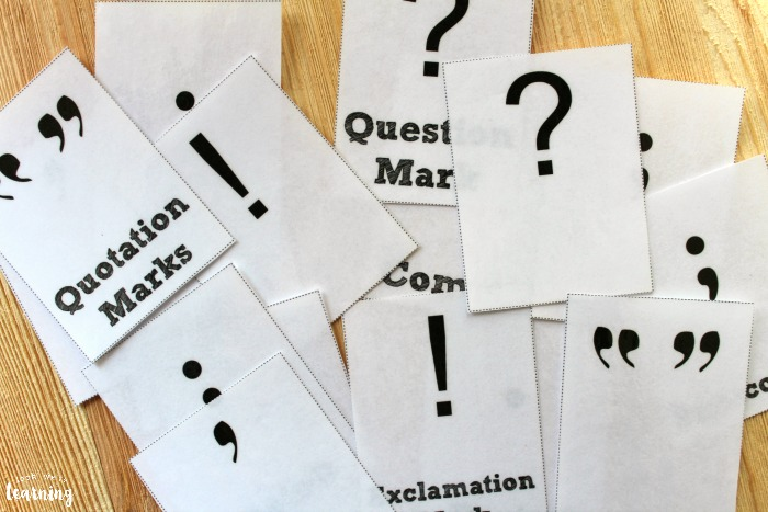 Printable Punctuation Mark Flashcards