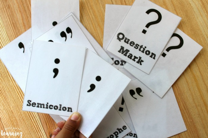 Punctuation Flashcards for Kids to Use
