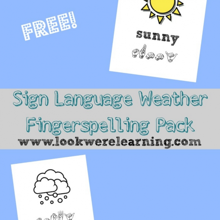 Sign Language Weather ASL Coloring Pages - Look! We're Learning!