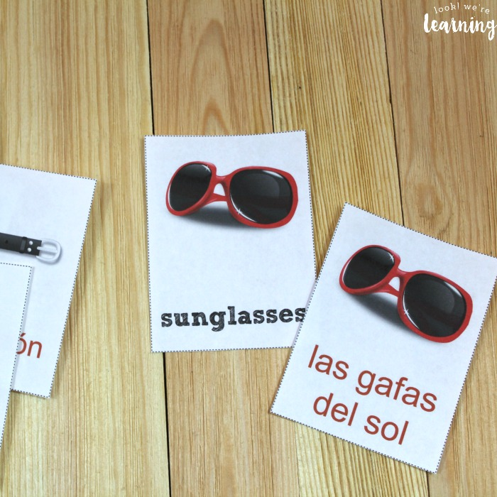 Spanish Clothing Flashcards for Kids