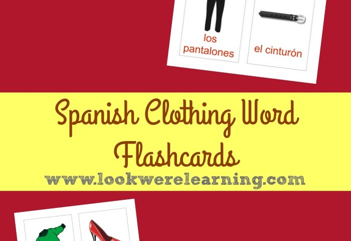 Printable Spanish Flashcards: Spanish Clothing Words