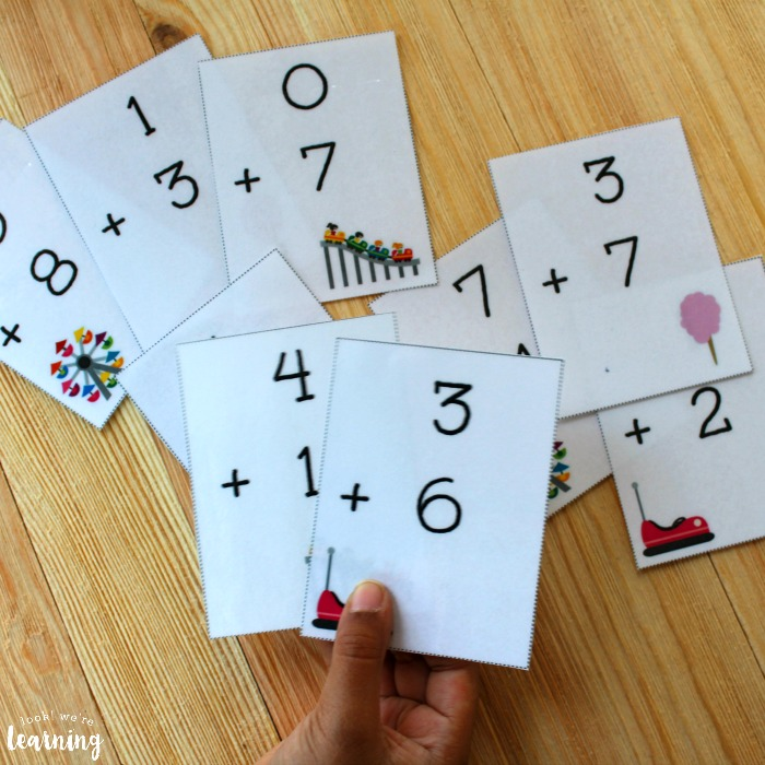 State Fair Addition Flashcards for Kids