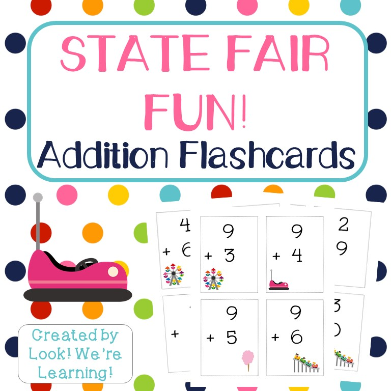 State Fair Fun Addition Flashcards