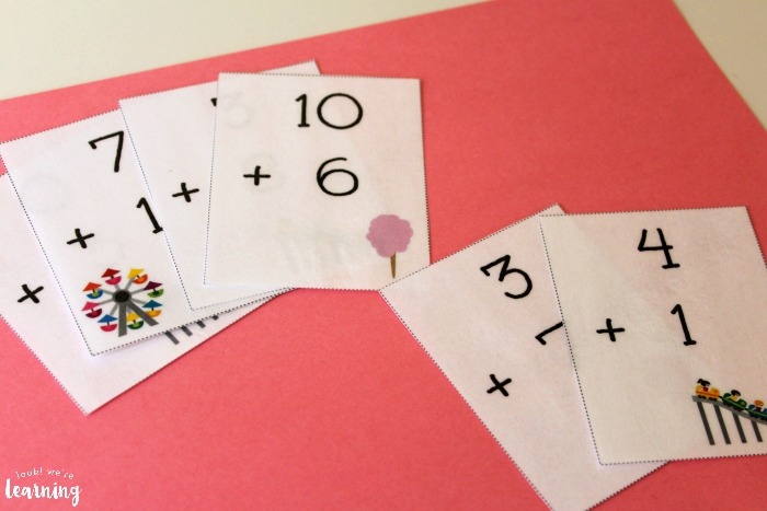 State Fair Themed Addition Flashcards