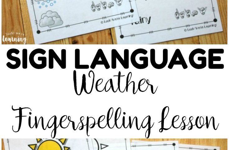 Weather ASL Coloring Pages: ASL Weather Fingerspelling Worksheets