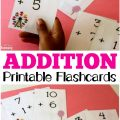 These printable addition flashcards make practicing math facts fun!