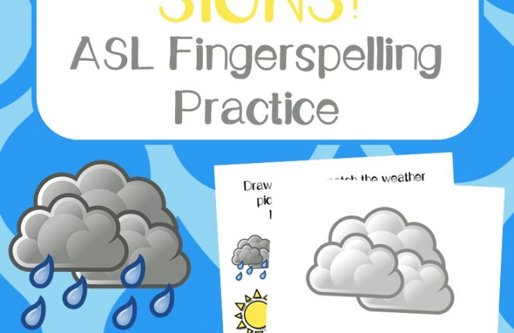 Weather ASL Coloring Pages