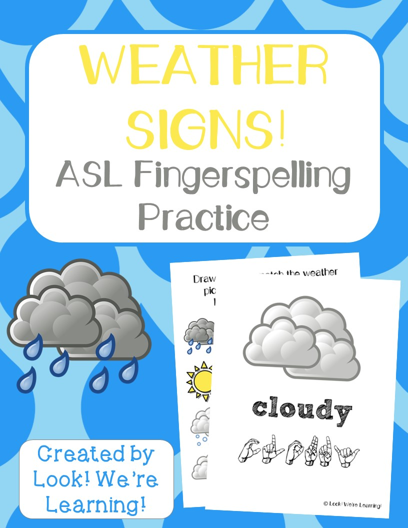 Weather ASL Coloring Pages - Look! We\'re Learning!