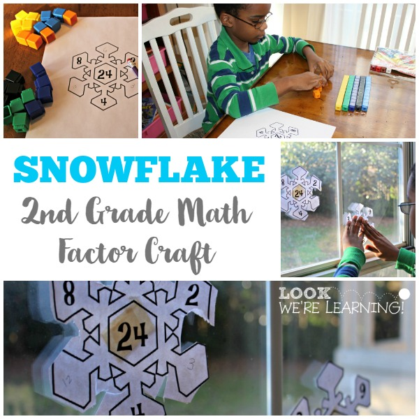2nd Grade Math Factors Snowflake Craft