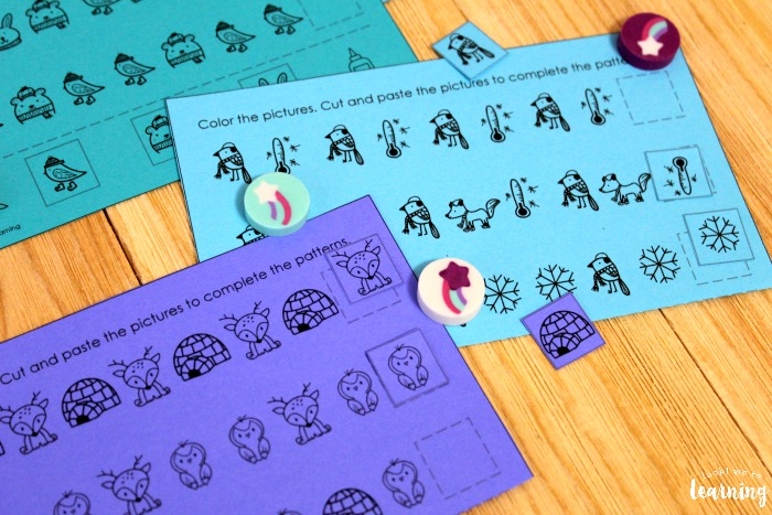 Arctic Animal Pattern Activity for Kids