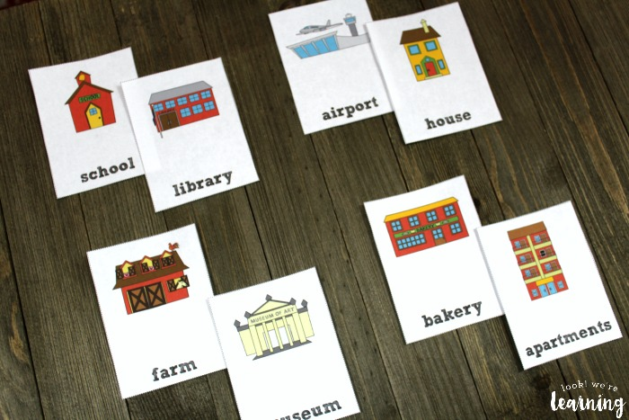 English to Spanish Community Word Flashcards