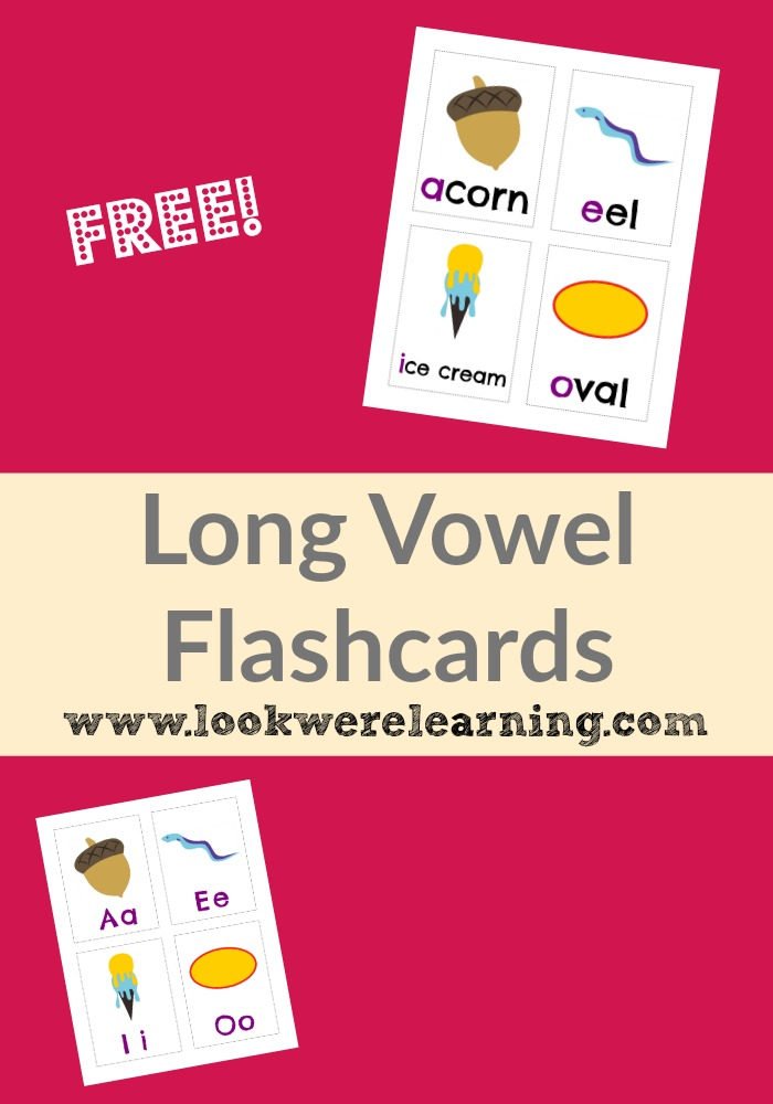 Free Printable Flashcards Long Vowel Flashcards @ Look! We're Learning!