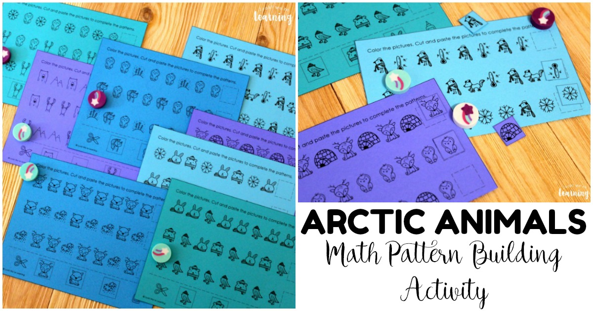 Fun Arctic Animals Pattern Building Activity