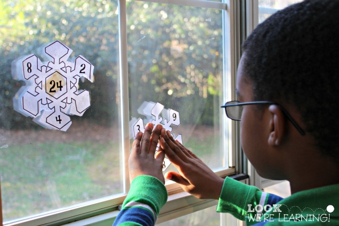Hanging Snowflake Math Factors for 2nd Grade