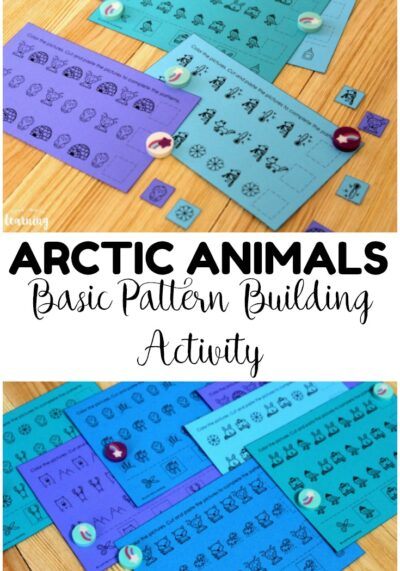 Pick up this Arctic Animals Pattern Activity to help little learners practice building basic math patterns with a fun winter theme!