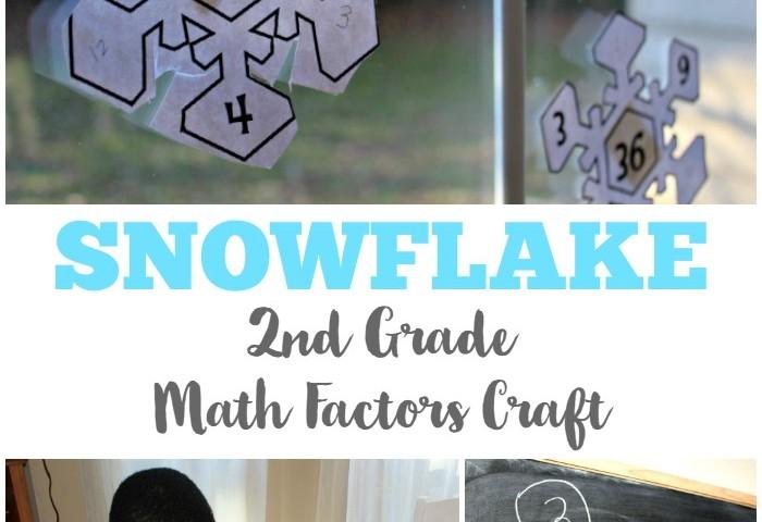 Snowflake 2nd Grade Math Factors Craft
