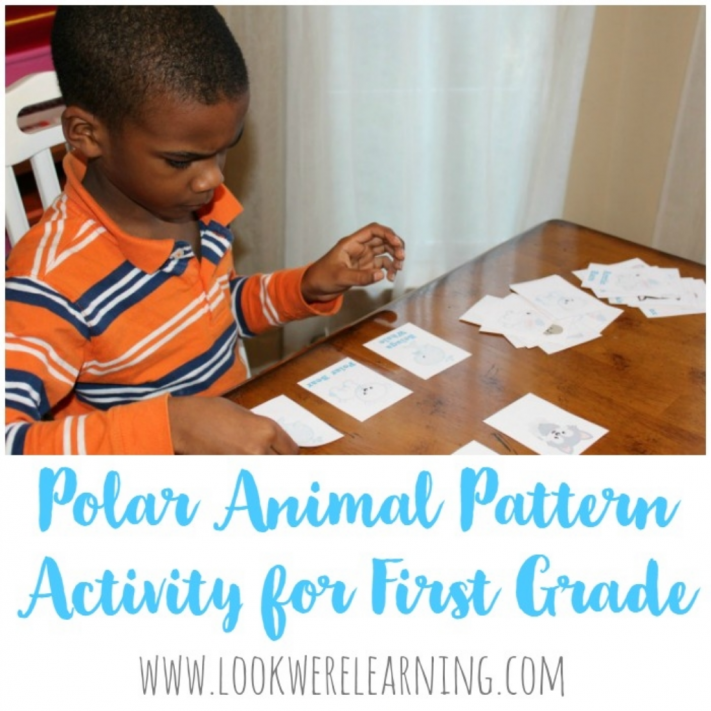 Polar Animal Pattern Activity for First Grade - Look! We're Learning!