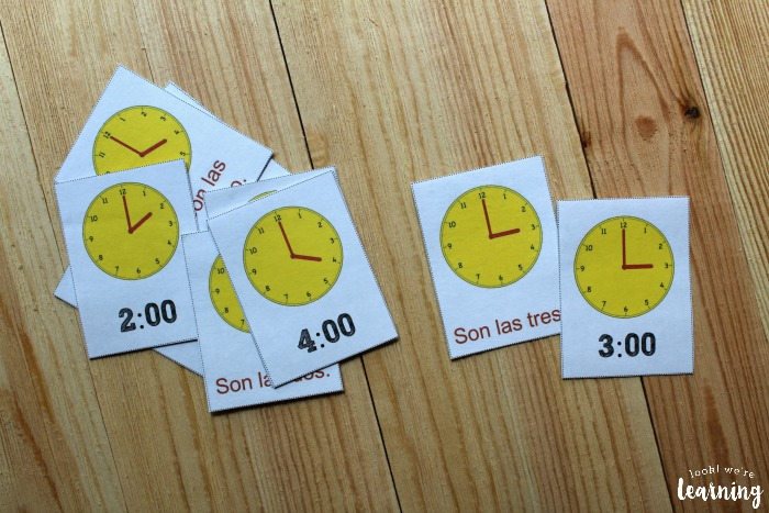 Printable Spanish Telling Time Flashcards