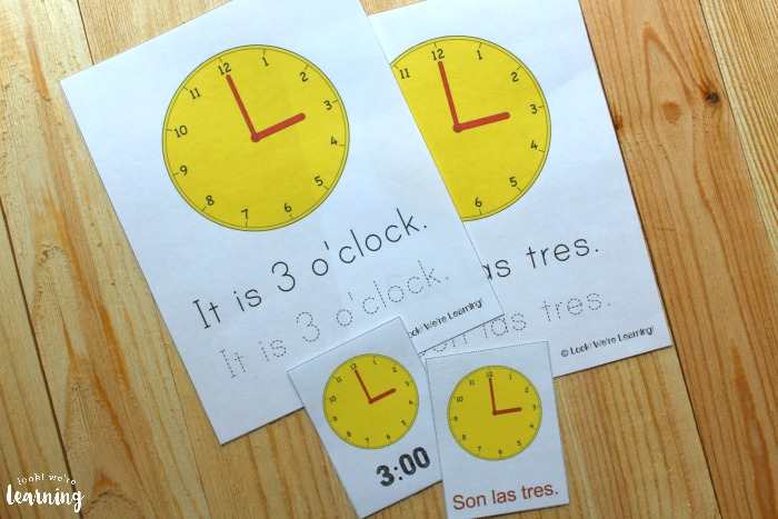 Printable Spanish Telling Time Lesson