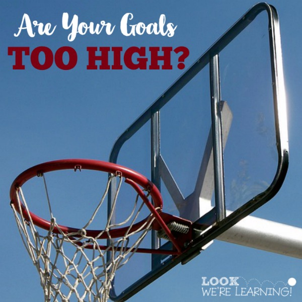 Setting Goals Too High? Try This!