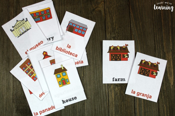 Spanish Community Word Flashcards for Kids